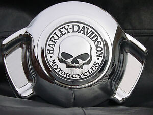 Harley-Davidson-CUSTOM-Willie-G-Skull-Air-Wing-Horn-Cover-NEW-NIB