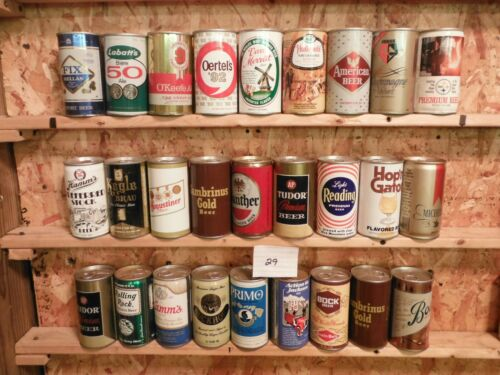84 BOTTOM OPENED*****U.S. & INTERNATIONAL*****BEER CAN COLLECTION~#29
