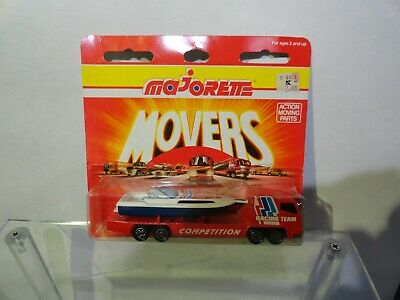 "Majorette Movers Semi Transporter & Speed Boat ""Racing Team Competition"" NIP"