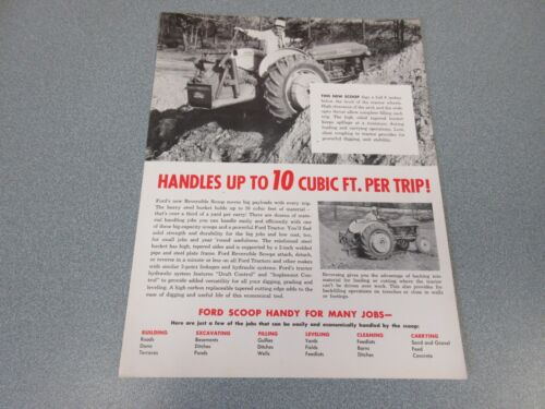 Ford 10 Cubic Ft Scoop Sales Sheet    1962            lw