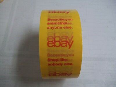 1 Roll Yellow Ebay Logo Packing Tape 2in X 75yds New From Bulk Pack Free Ship