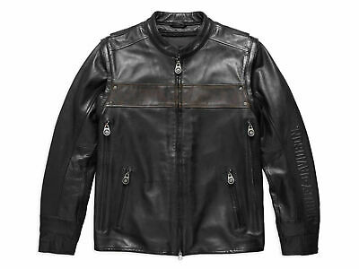 Harley Davidson Men's Willie G Convertible Leather Jacket Vest 97157-17VM M 3XL