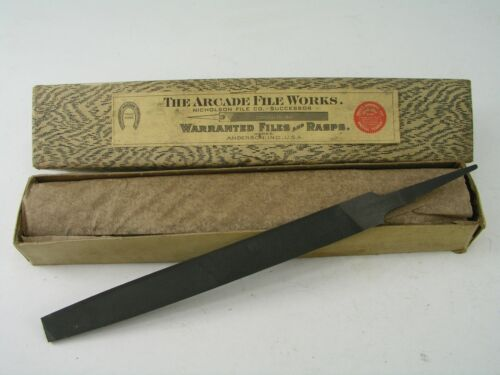 "6"" Flat Mill Hand File, Bastard Cut, Vintage Arcade (Nicholson)"