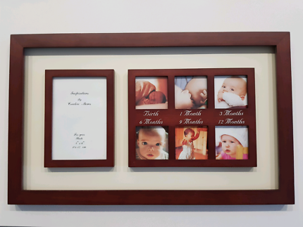 Walnut Ivory baby picture frame 1 - 12 months Fitzroy North Yarra Area Preview