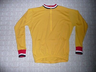 d6c22d008 WOOL MERINO SUPER WASH BIKE CYCLING JERSEY LARGE LONG SLEEVE GOLD