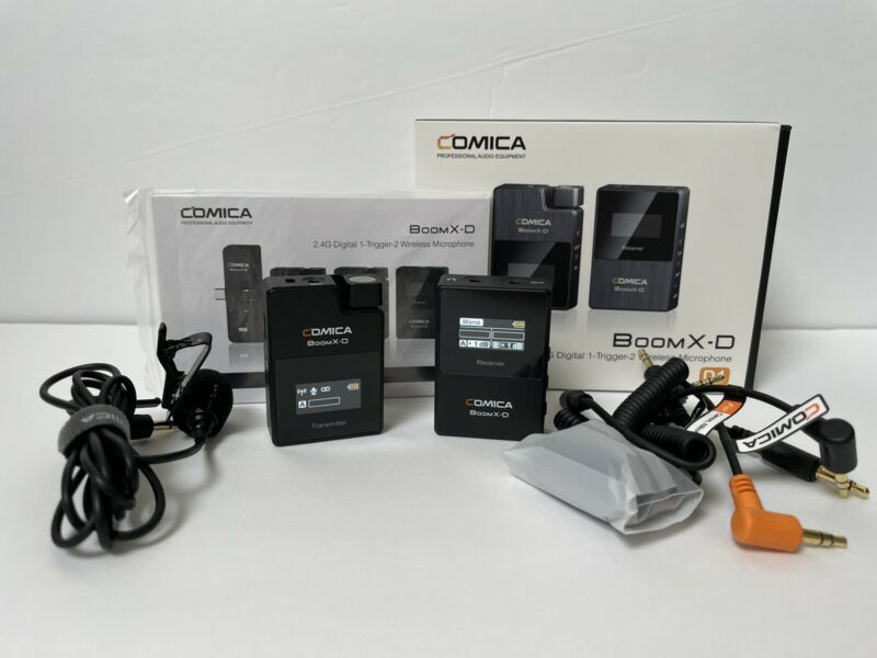 COMICA Boomx-D D1 2.4G Wireless Microphone 1xTransmitter 1xReceiver for Cameras