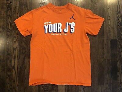 Nike BETTER GET YOUR J's Orange T-Shirt Men's Size Large