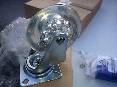 Flexa Casters Clear Wheels Set Of 4 All Swivel2 Lock-size 223865 Free Sh