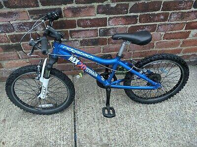 Ridgeback MX20 Terrain Blue Children's Mountain Bike. 20 inch. Front suspension.