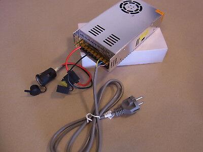 Spannungswandler 230V auf 12V = 180Watt  12V/15A incl.Zubehör Netzteil - Wandler Zubehör