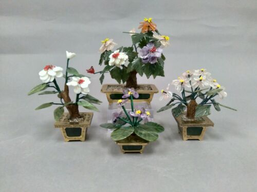 Lot of Chinese Bonsai Trees Multicolor Stone Flowers