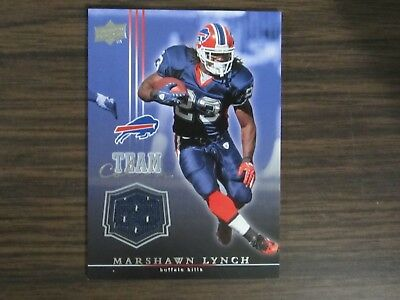 2008 Upper Deck Team Colors #TC-ML Marshawn Lynch Jersey Card Buffalo Bills