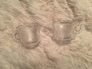 Hughes Cornflower Crystal cream and sugar set