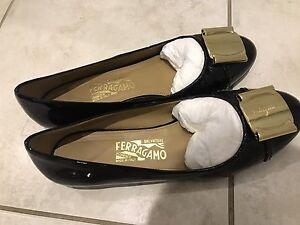 Ferragamo shoes, black, size 8