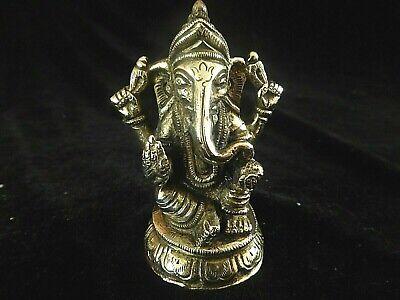 Good Luck Brass Ganesh Statuette 3