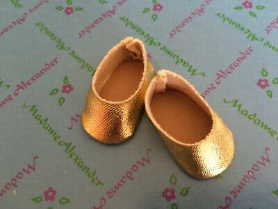 "Original Gold Shoes  for 8"" Madame Alexander dolls"