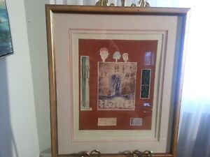 """Marion Kramer Signed & Numbered Lithograph """"Egypte"""" + Paintings"""