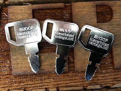 3 Keysr30074 For Case John D Massey Ferguson Baraga Terramite 192923m1 192923v1