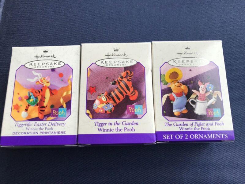 Hallmark Easter Ornaments - Winnie The Pooh Set of Three