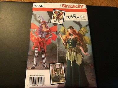 Simplicity Costume Pattern 1550 Ms COSPLAY Fantasy Fairy~Elf Outfits~ Amy Brown