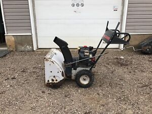 White Snow Blower 8hp Electric Start
