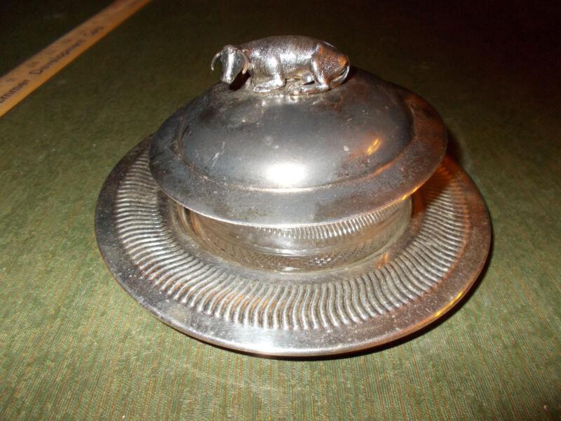 Antique, Rare British Silver Butter Dish C. 1880