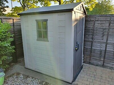 Keter Brown/Grey Plastic Garden Tool Shed Storage 1.2m x 1.8m or 6ft x 4ft.