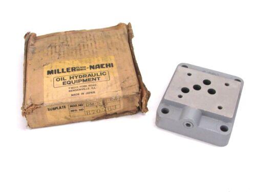 MILLER NACHI HYDRAULIC VALVE MANIFOLD SUBPLATE, DM-S-03-E40