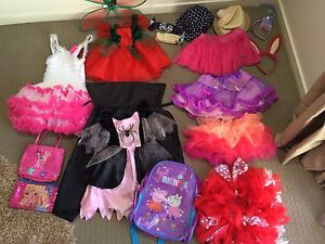Girls dress up bundle dresses,skirts tutu and bags and hats Helensvale Gold Coast North Preview
