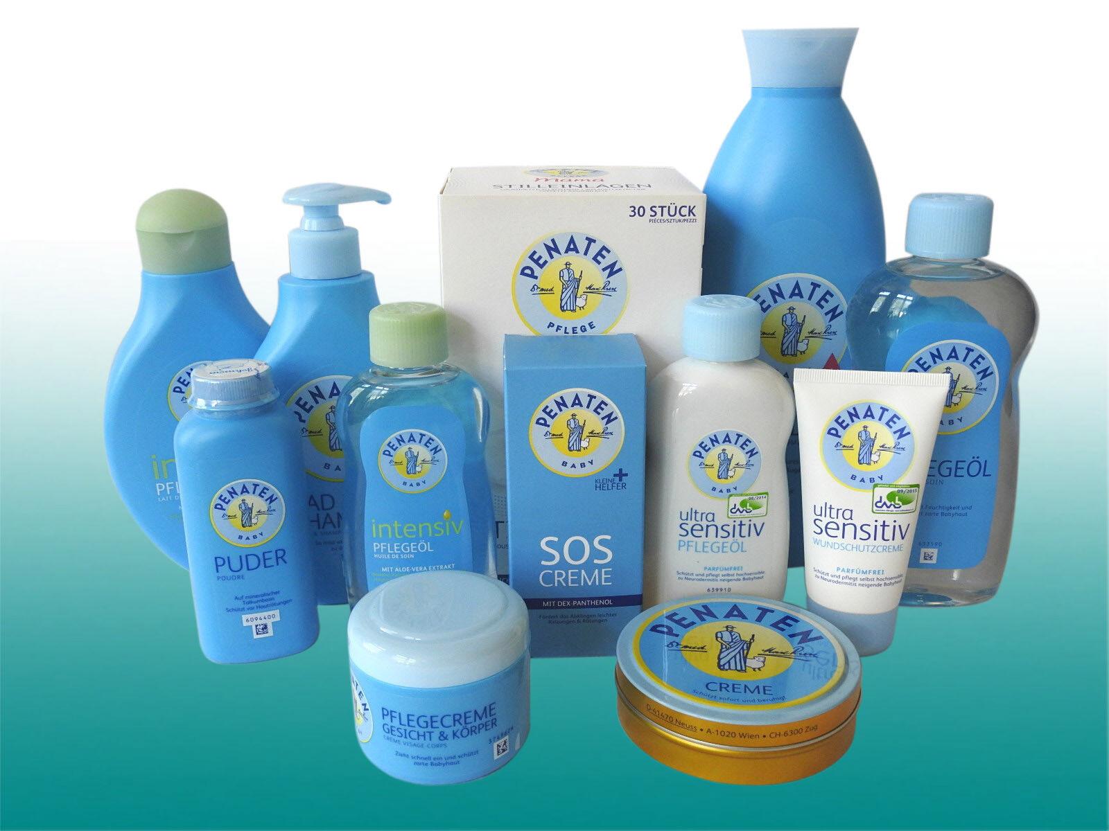 Penaten Pflege-Set Baby Sanft Bad 12 Pflegeprodukte Stilleinlagen
