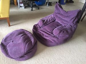 Dark purple bean bag Epping Ryde Area Preview