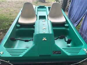 Pedal Boat with accessories and trailer