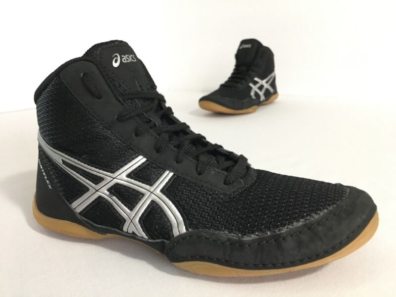 Asics MATFLEX 5 C545N Black Silver Wrestling Shoes Youth Size 3 Free Shipping