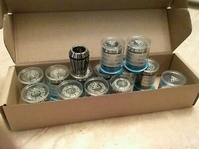 13pcs ER25 metric collet set, collets 4mm - 16mm, 0.008mm TIR #ER25-SET13M-NEW