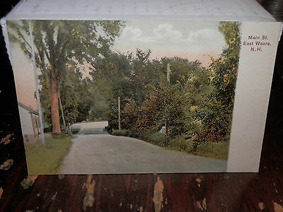 EAST WEARE NH - RARE 1908 Used Postcard - MAIN STREET