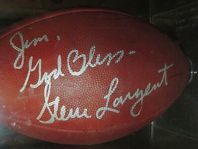 Steve Largent  Wide Receiver Autographed Signed Official NFL Football