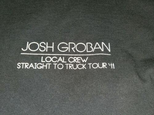 Josh Groban Straight To The Truck 2011 Tour Crew Shirt XL - $2.99