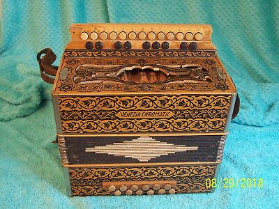 VENEZIA Chromatic Hohner Piano button box  Germany accordion Good condition