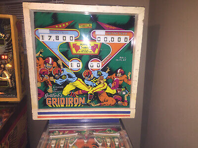 Gottlieb Gridiron Pinball Machine EM 2 Player 1977