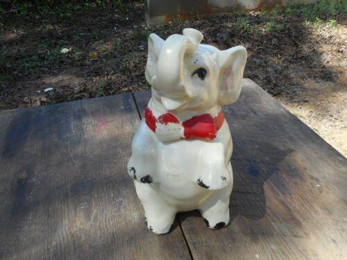 Vintage Shawnee Pottery Co. USA Rare Lucky Elephant Cookie Jar Ceramic