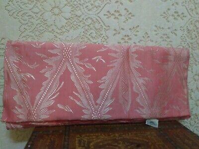 NWOT Vintage 1940s BATES Pink Damask Full Size Cover Single Beadspread 107