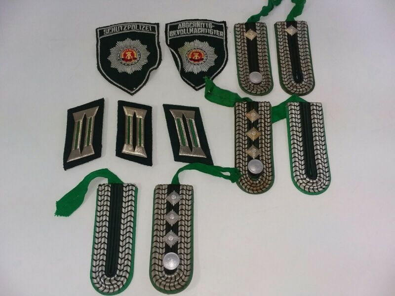 Germany Police Schutzpolizei Patch Collar Tab Pip Shoulder Board Lot