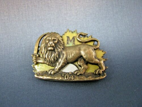 Rare Antique Sterling High Priests of Mithras Krewe New Orleans Mardi Gras Pin