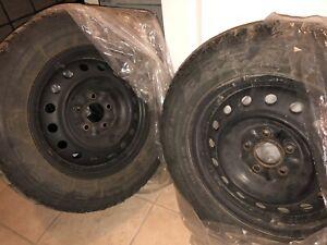 Brand new rims; tires 225/60R16