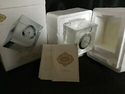 Shannon Crystal by Godinger silver Hand Faceted Geometric Crystal Clock - NIB