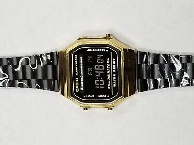 Casio watch Illuminator Alarm Chrono #3298 A168 Black