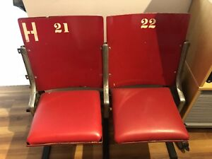 Montreal forum seats joined double set RARE