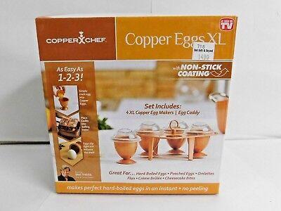 Hard Boiled Eggs Breakfast (NEW Copper Chef Copper Eggs XL Set of 4 Hard-Boiled Eggs)
