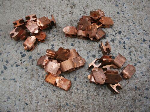 LOT- 40 New Penn-Union # CDT-308-8 Double Tab Press-On Copper H-Taps -New