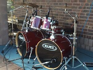 7 Piece Maple M SERIES MAPEX KIT WITH DW SNARE
